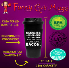 Eggs Are Sides For Bacon Tumbler