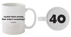40th Birthday - 14,610 Days Young - 40 On Bottom Mug