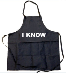 2 PACK - I Love You & I Know Aprons