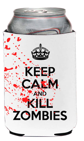 Keep Calm And Kill Zombies Neoprene Can Coolie