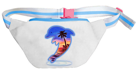 Air Brush Style Dolphin Fanny Pack
