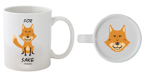 For Fox Sake - Fox On Bottom Mug