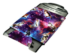 Space Cat 2 Neoprene Can Coolie