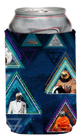 Space Sloth Neoprene Can Coolie