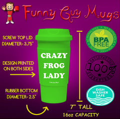 Crazy Frog Lady Tumbler