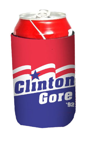 Clinton Gore '92 Neoprene Can Coolie