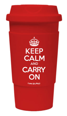 Keep Calm And Carry On Tumbler
