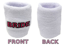Bride Sweatband Set (3-Pack: 1 Headband & 2 Wristbands)