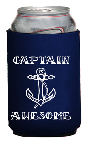 Captain Awesome Neoprene Can Coolie