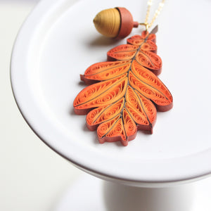 OAK LEAF with ACORN CHARM