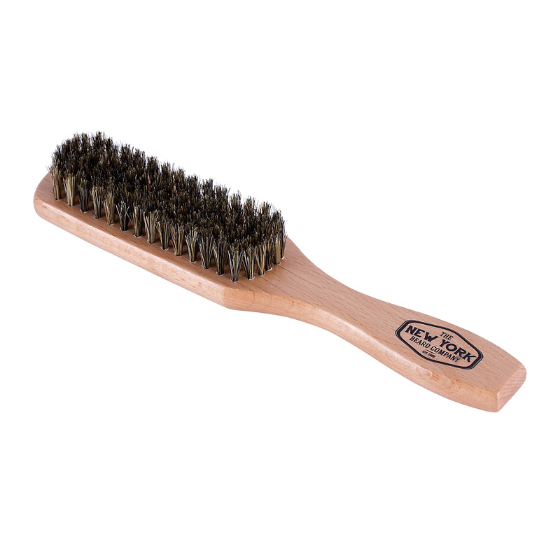 Premium Boar Bristle Beard Brush - Handle Style