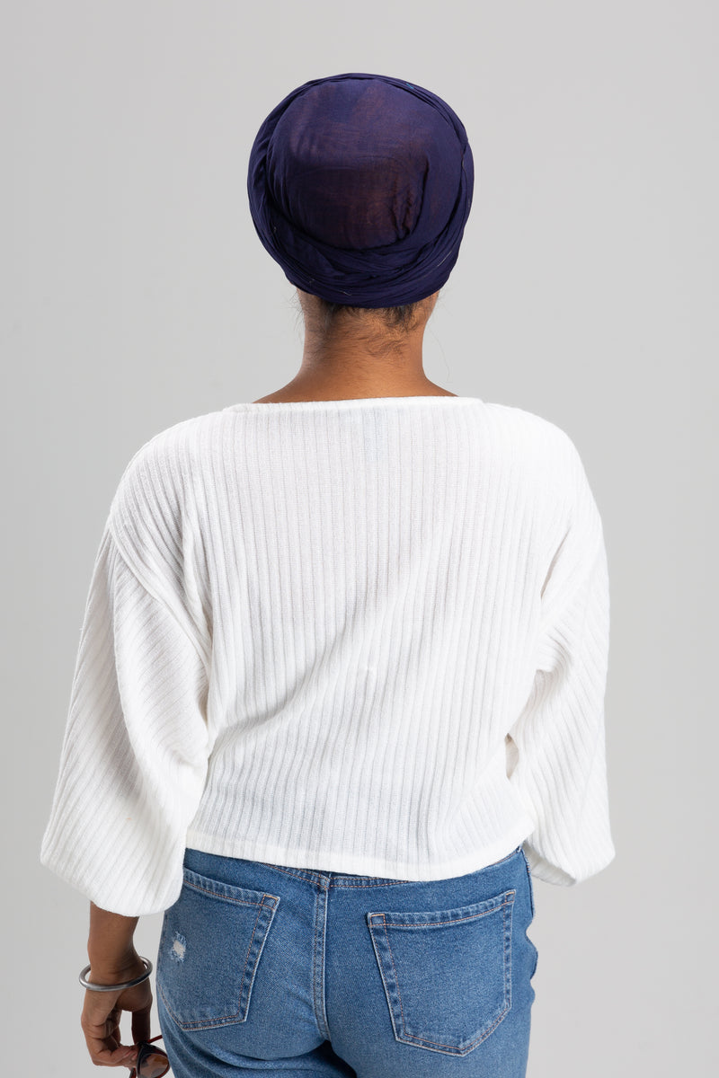 Navy Blue Turban