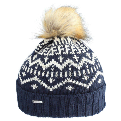 Gertrude - color block pom beanie