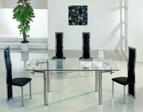 Java Large Glass Extendable Dining Table Yappee