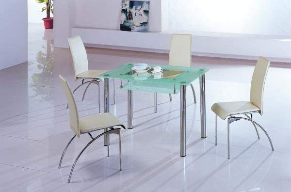 Small Dining Table Set For 4, Rimini Small Glass Dining Table Yappee