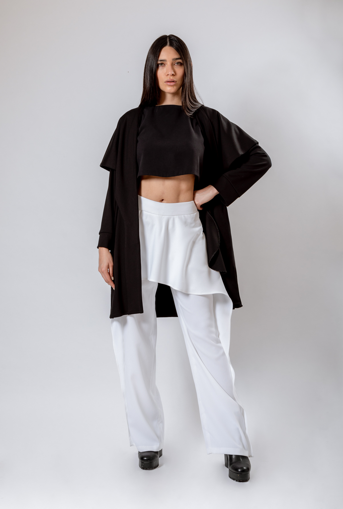 TROUSERS WITH PEPLUM