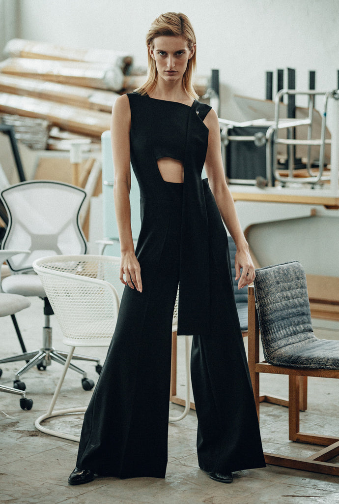 JUMPSUIT WITH RECTANGULAR HOLE IN WAIST - CIHUAH
