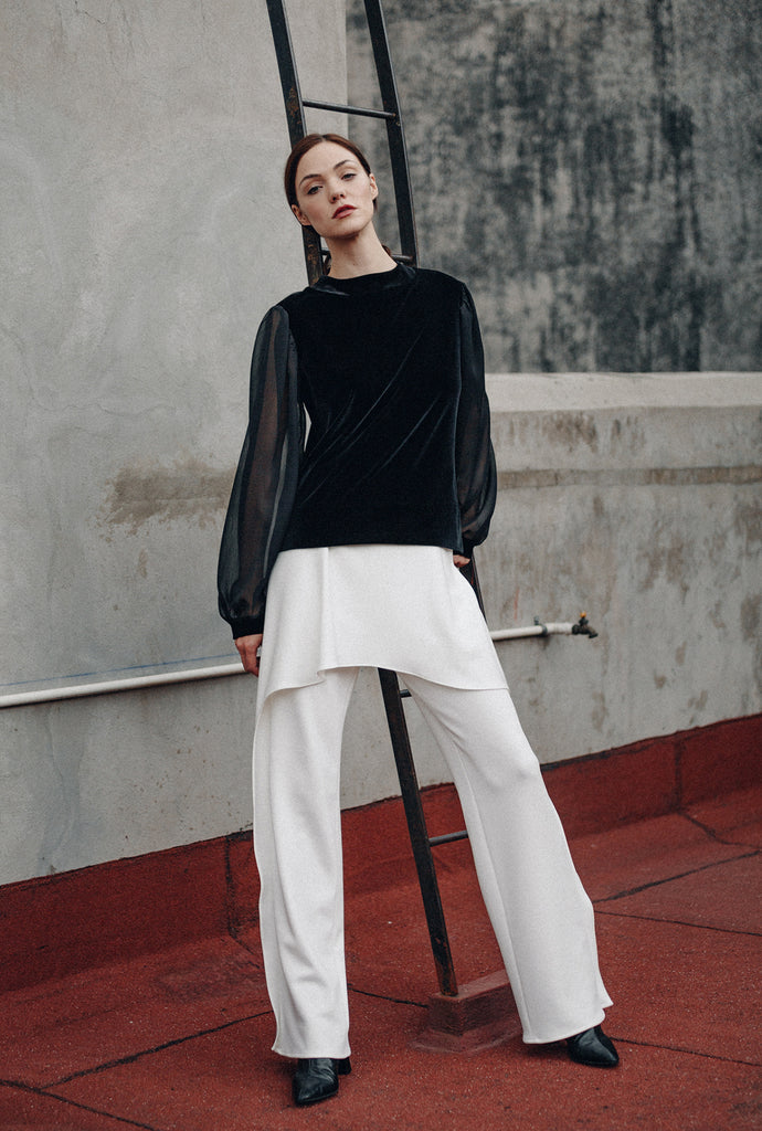 TROUSERS WITH PEPLUM - CIHUAH