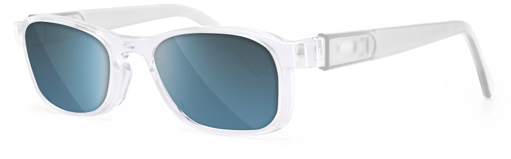 crystal clear sunglasses temples