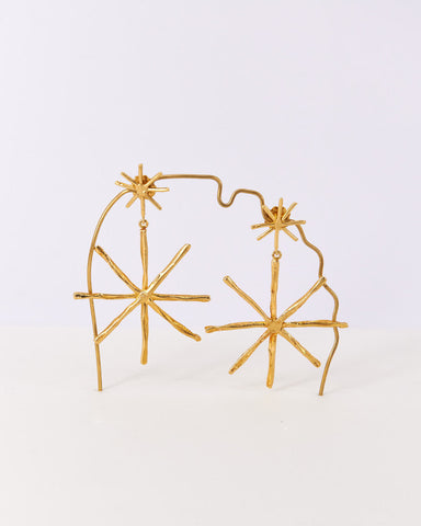 Earrings-Big-Doublestar-Cristinajunquero-Gold-Handmade-Nuovum-Barcelona-localdesigners