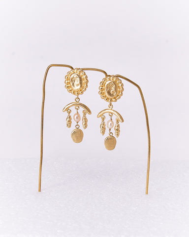 Earrings-Tomasa-CristinaJunquero-Gold-Handmade-Nuovum-Barcelona-localdesigners