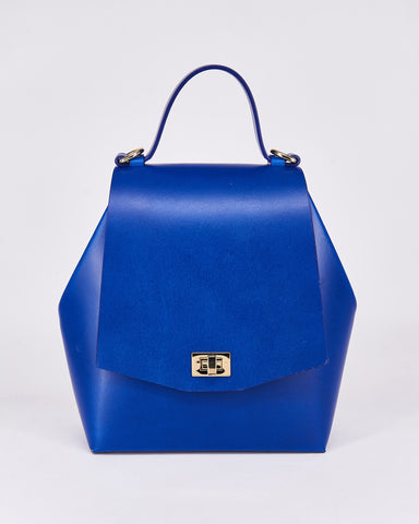 Hex Bag-Blue-Leather-Designed by Nuovum-Localdesigners-Barcelona-Front