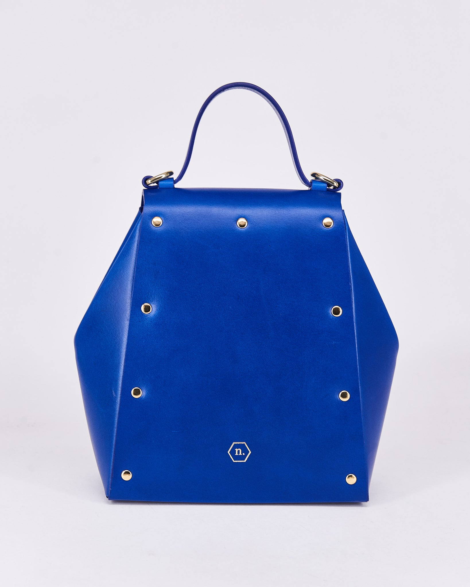 Hex Bag-Blue-Leather-Designed by Nuovum-Localdesigners-Barcelona_Back