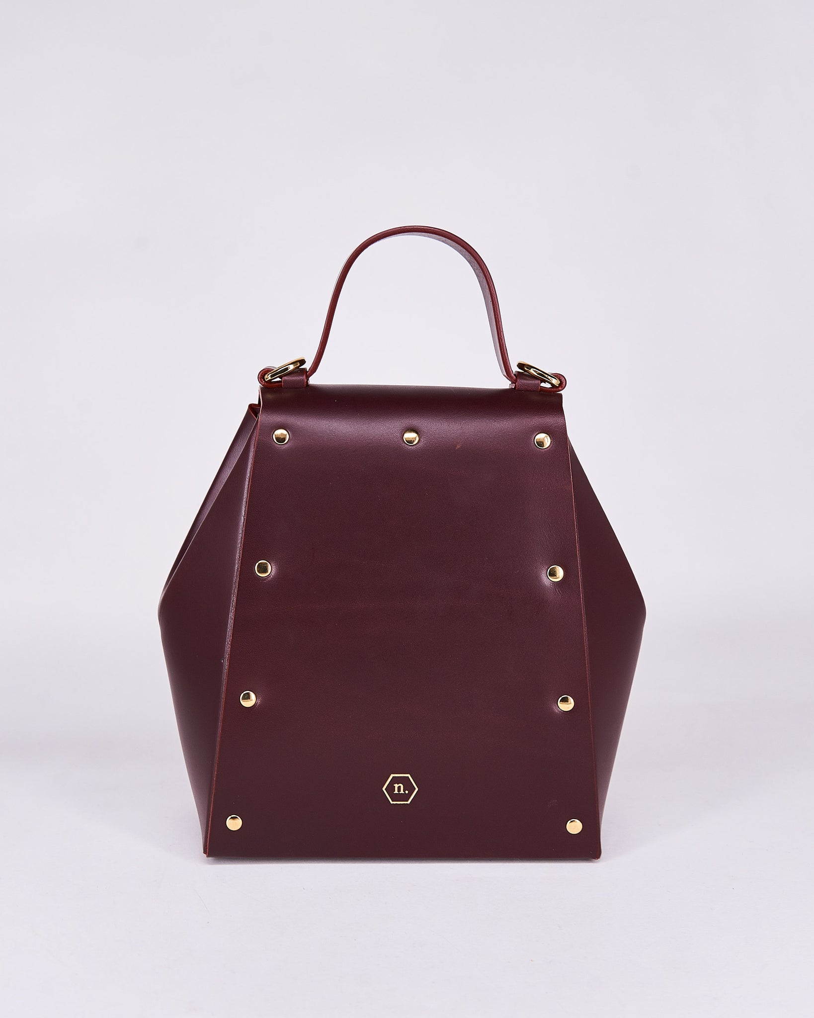 Hex Bag-Bordeaux-Leather-Designed by Nuovum-Localdesigners-Barcelona-Back