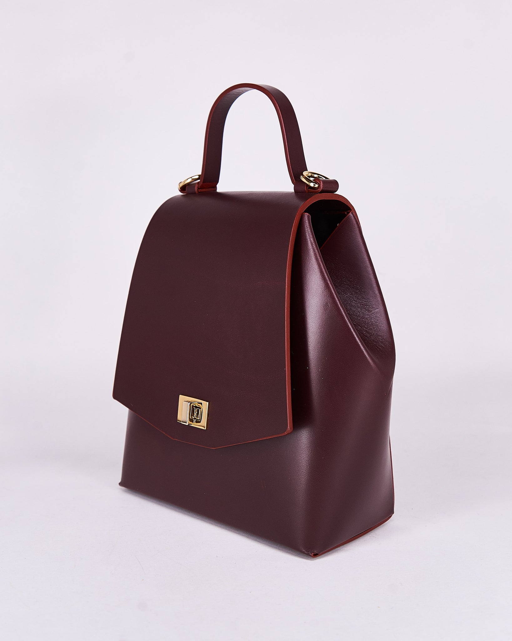 HexBag-Bordeaux-Leather-DesignedbyNuovum-Localdesigners-Barcelona-Side1