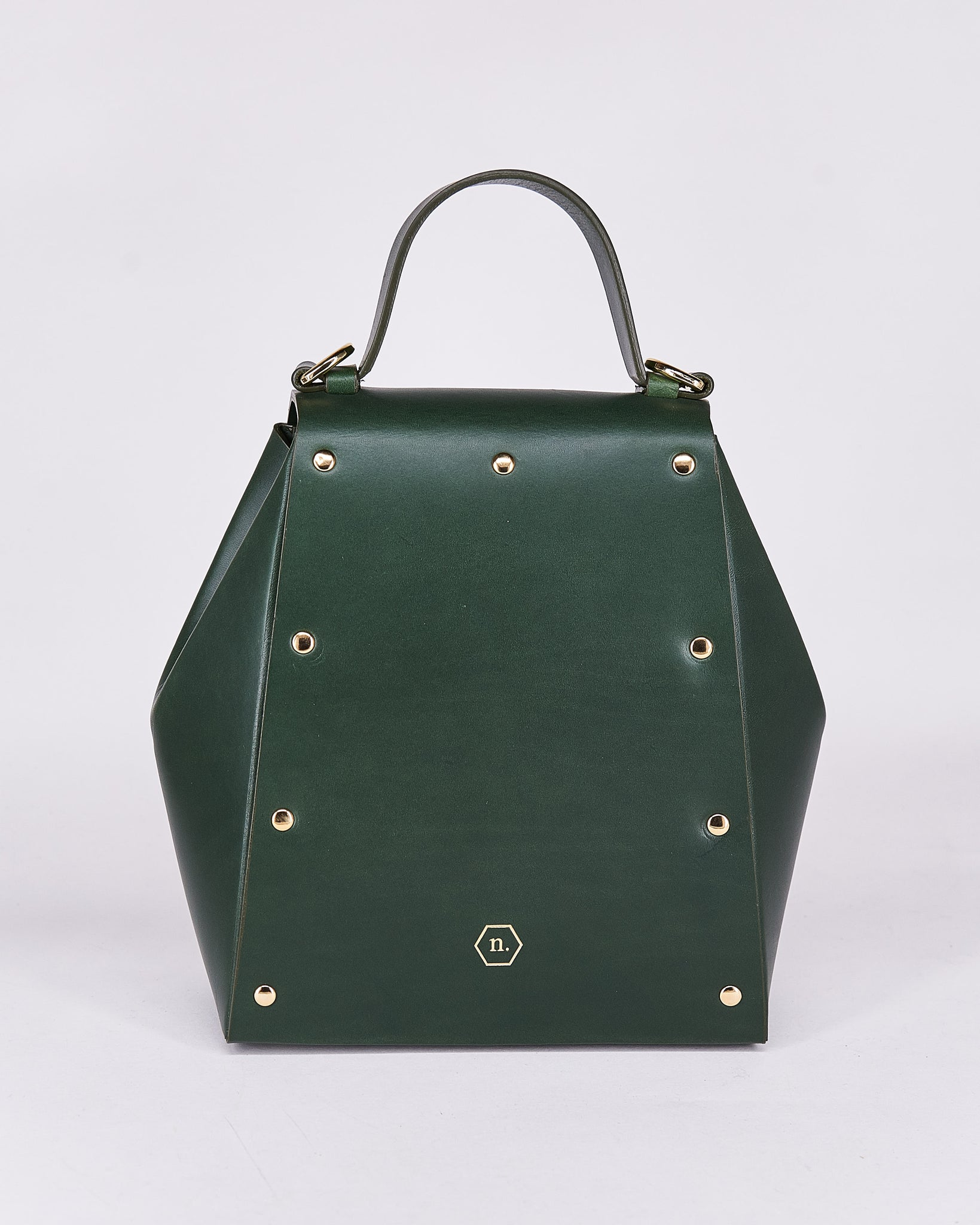 Hex Bag-Green-Leather-Designed by Nuovum-Localdesigners-Barcelona-Back