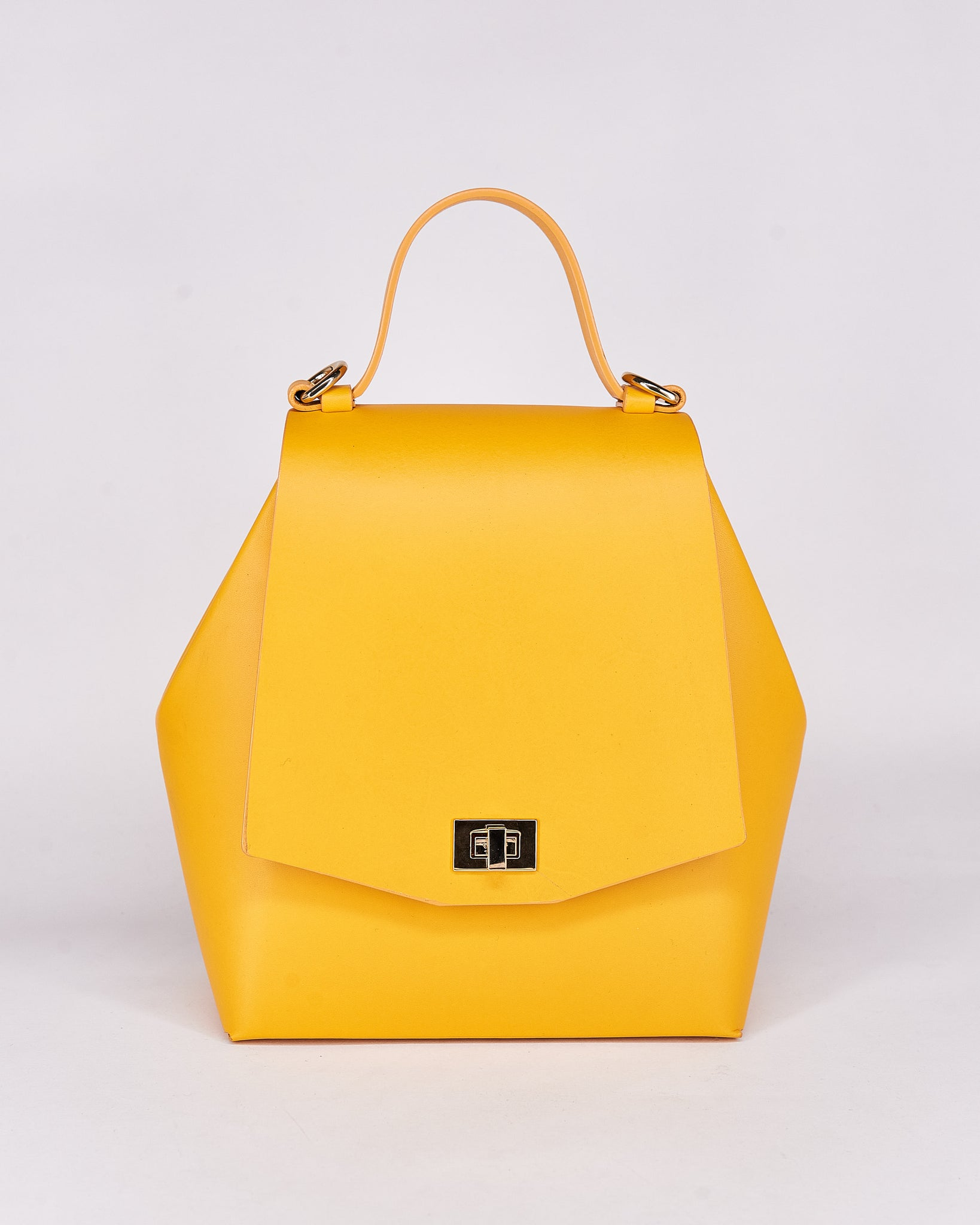 HexBag-Yellow-Leather-DesignedbyNuovum-Localdesigners-Barcelona-Front