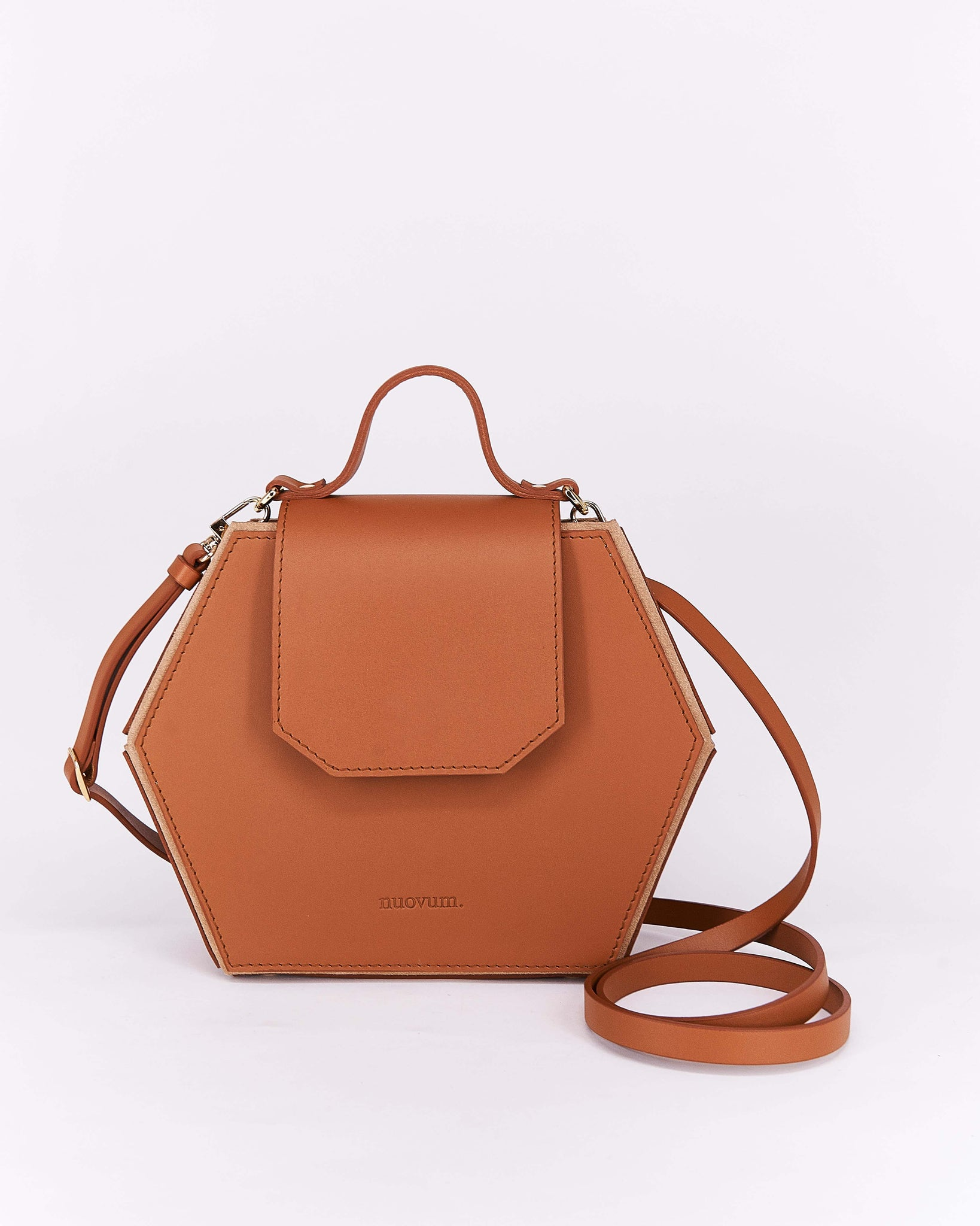 Nuo Hex Bag Brown