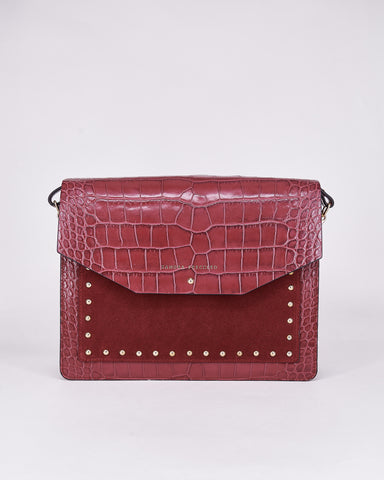 Mariela-Sandra Freckled-Bag-Bordeaux-Leather-Handmade-Local Designers-Nuovum-Barcelona