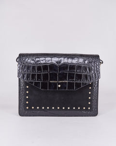 Mariela Coco-Sandra Freckled-Bag-Black-Leather-Handmade-Local Designers-Nuovum-Barcelona