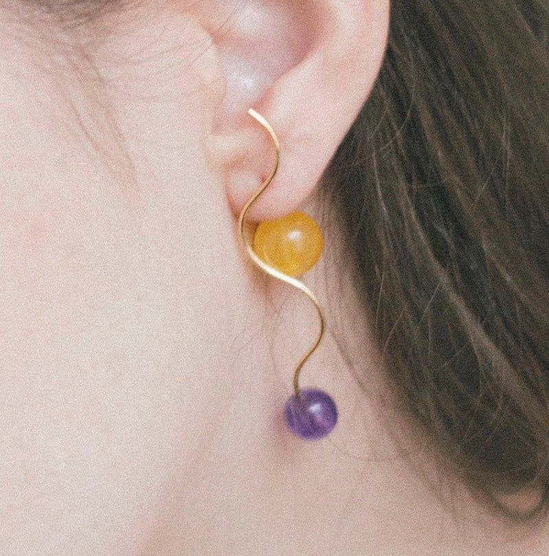 Earrings Color Block