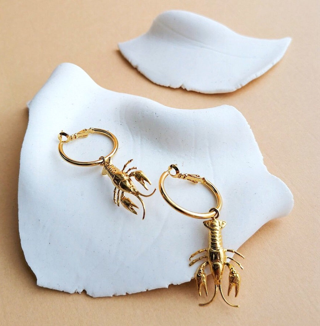 Earrings Lobsters Hoops