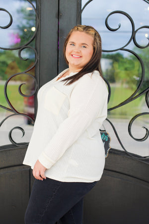 Snakeskin Ruffle Sleeve Top: Blue