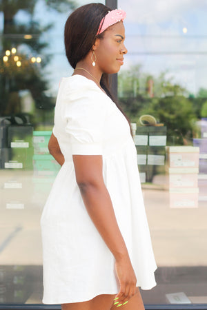Lace Off the Shoulder Maxi: White