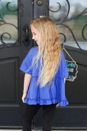 Lace Bell Sleeve Top: Sunshine