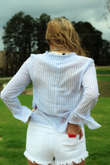 Button Up Knot Top