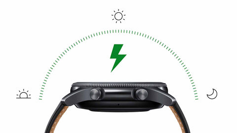Galaxy Watch3's long-lasting battery can go for more than a day⁷ on a single charge.