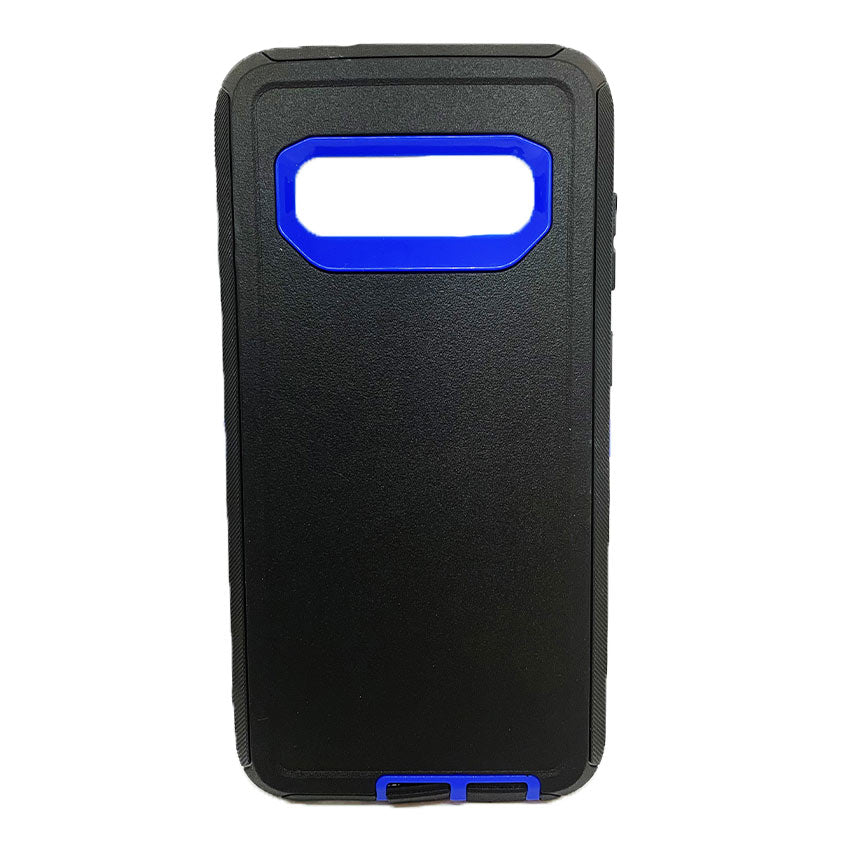 Generic Samsung S10 Plus Defender Case-black:blue