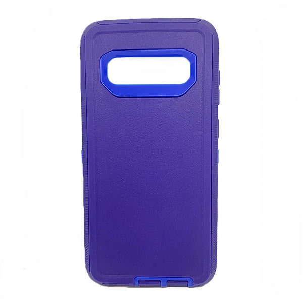Generic Samsung S10 Plus Defender Case-purple:blue
