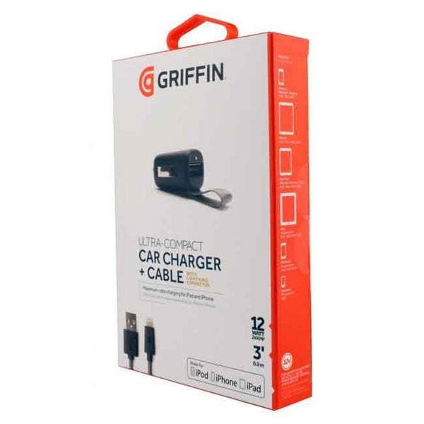 Griffin Ultra-Compact Car Charger & Cable 3