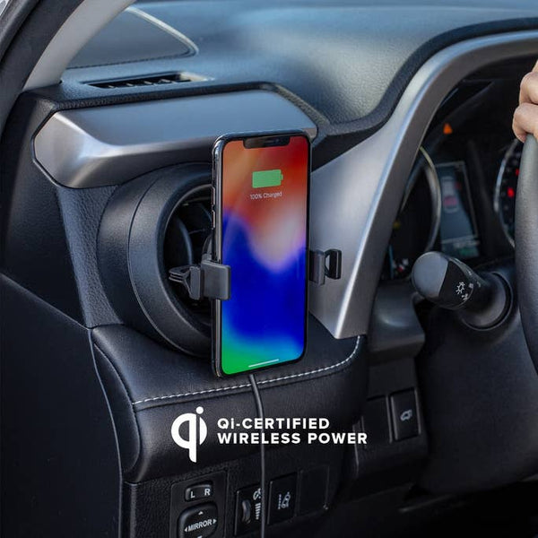 Mophie Wireless Universal Charging Vent Mount in car