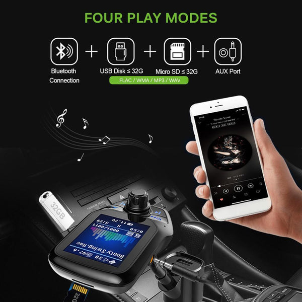 T43 Multifunction Wireless FM Transmitter more details