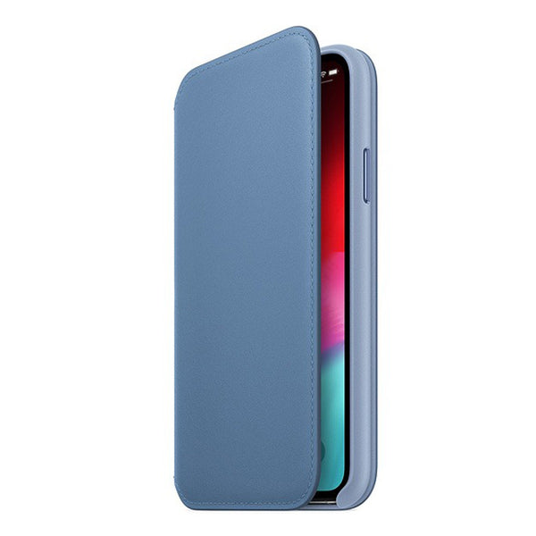 iPhone XS Leather Folio Case Cape Cod Blue-2