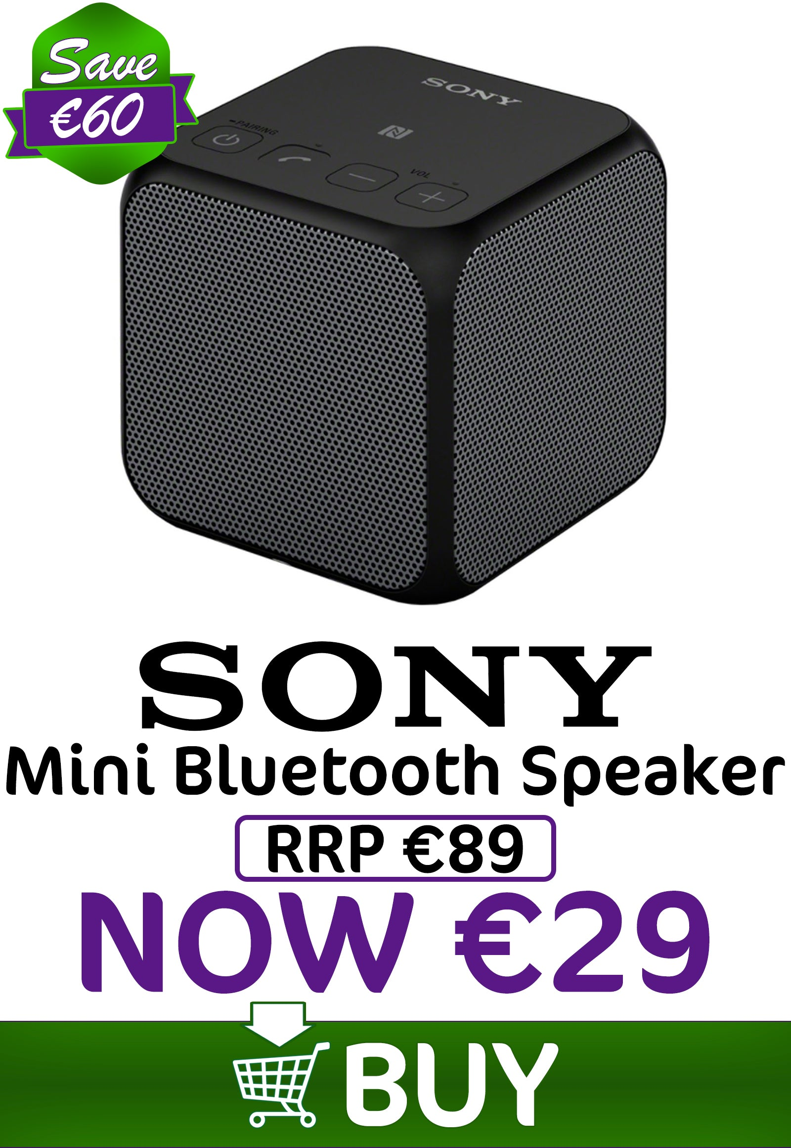 Sony Mini Bluetooth Speaker - €39