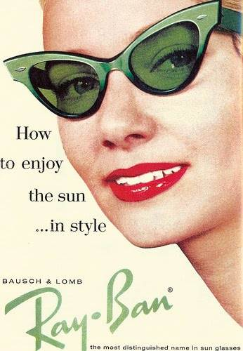 Ray-Ban cat eye 1950's