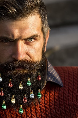 beard ornament, ugly sweater, beard